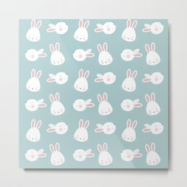 Cute Bunnies Metal Print