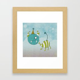 Party-Animal in Bubbles II Framed Art Print