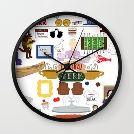 Friends TV Show Quotes Collage Wall Clock