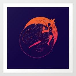 Partial Eclipse Art Print