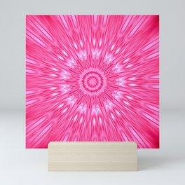Pink Mandala Explosion Mini Art Print