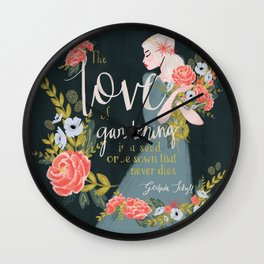 The Love of Gardening Wall Clock