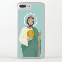 St. Jude Illustration Clear iPhone Case