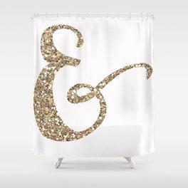 Glitter Ampersand Shower Curtain