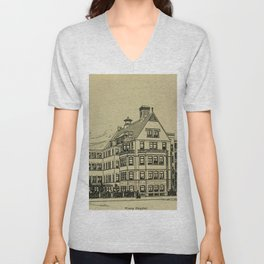 Wesley Hospital 1888 Unisex V-Neck