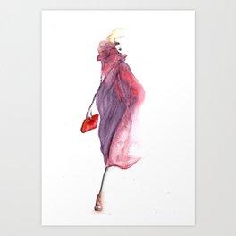Pink veil Art Print