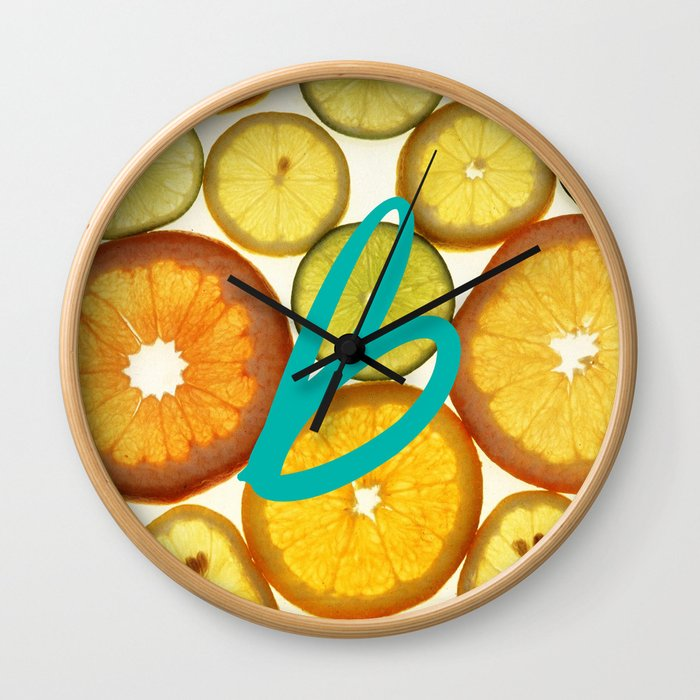 Citrus - Citron (Recettes du Bonheur) Wall Clock