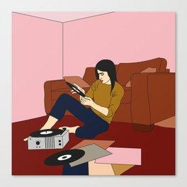 Un dimanche en musique Canvas Print