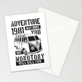 adventure may hurt you Stationery Cards
