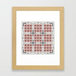 Graph 4 on Grey Framed Art Print