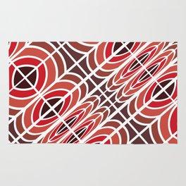 Red pattern geometric Rug