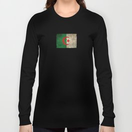 Old and Worn Distressed Vintage Flag of Algeria Long Sleeve T-shirt