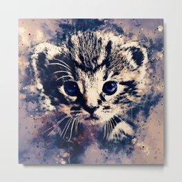 baby cat wsfn Metal Print