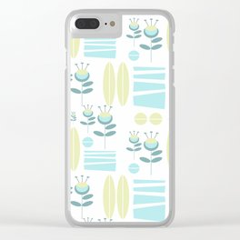 Midcentury Water Garden #society6 #decor Clear iPhone Case