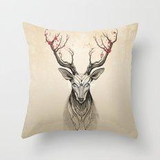 Deer tree Throw Pillow