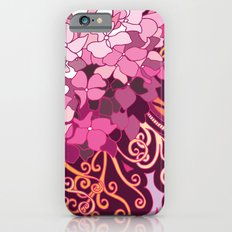 zentangle inspired Hortensia_rose pink doodle Slim Case iPhone 6s