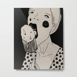 Tasty, Ice-Cream, Portrait Metal Print