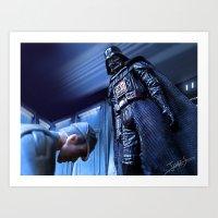 Art Print featuring Darth Vader - Unaceptable by jcalum2012