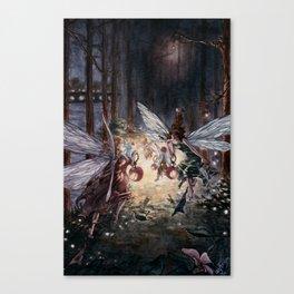 Fairies in Kensington Gardens Canvas Print