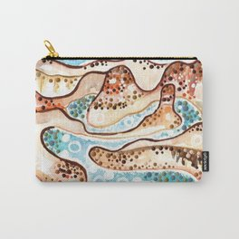 LAKE POWELL ART Utah Arizona reservoir Colorado River landscape painting desert watercolors painting Carry-All Pouch