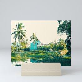 River Scene, Hoi An, Vietnam Mini Art Print