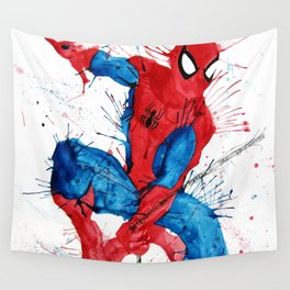 Watercolour Splash Spider-Man Wall Tapestry
