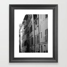 Rome Streets in Grey Framed Art Print