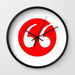 Quotation marks Wall Clock