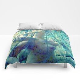 SEXY ART NUDE BLOND LADYKASHMIR Comforters