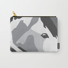 Paint Horse in Grey Carry-All Pouch