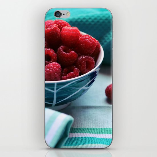 Ruby Delicious - Raspberry Still Life iPhone & iPod Skin