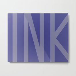 Blue Ink #society6 #ink #minimal Metal Print