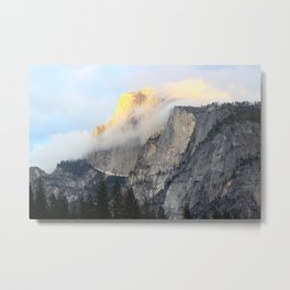 Golden Peak Metal Print