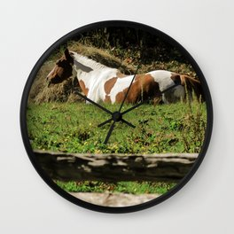 Paint By Nature Horse Photo Wall Clock