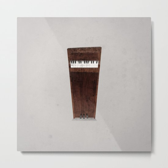 Lonely Piano Metal Print