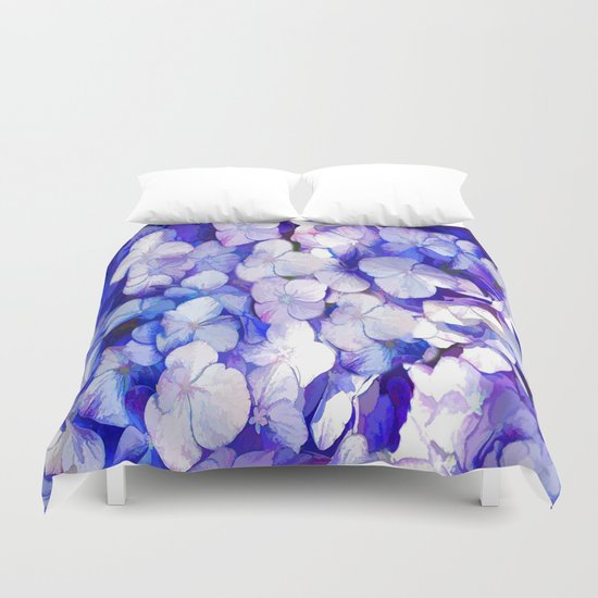 Watercolor Hydrangea Duvet Cover