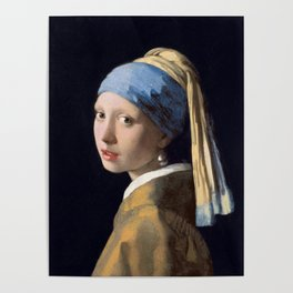 Girl With a Pearl Earring - Vermeer Poster