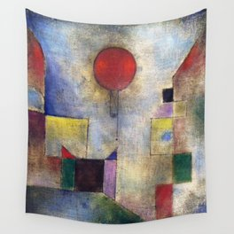 Paul Klee Red Balloon 1922 Artwork for Tshirts Posters Prints Men Women and Kids Wall Tapestry