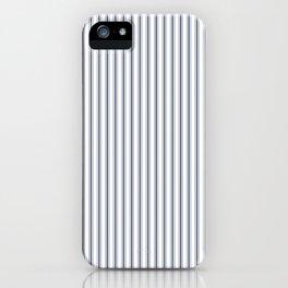 Dark Sargasso Blue Mattress Ticking Narrow Striped Pattern - Fall Fashion 2018 iPhone Case