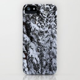 Snowy Abyss iPhone Case