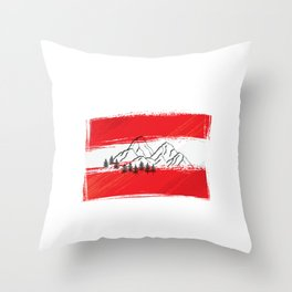 Osterreich | Austria | Mountain sports | Sports | Snowboarding | Powder Rider | Snowboard Lover | Throw Pillow