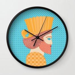 Ancient Persian Warrior Pop Art Wall Clock