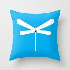 LibelluleMonde Cyan Branding Throw Pillow