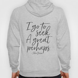 I Go To Seek A Great Perhaps,Looking For Alaska, Motivational Quote,Motivational Poster,Quotes Hoody