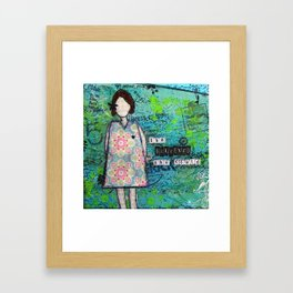 She Believed She Could Framed Art Print
