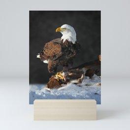 Bald Eagle and Deer Mini Art Print