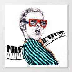Vintage Elton - Analog Zine Canvas Print