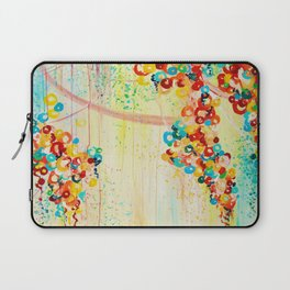 SUMMER IN BLOOM - Beautiful Abstract Acrylic Painting Vibrant Rainbow Floral Nature Theme  Laptop Sleeve