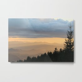 Breathtaking Mountain Sunset * Western North Carolina * Blue Ridges turn Golden Metal Print