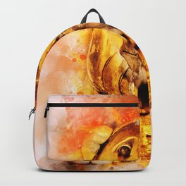 Golden Fountain Lion Backpack